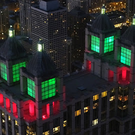 Four Towers of Christmas by Gary Ambessi - Buildings & Architecture Architectural Detail