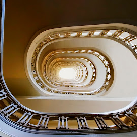 Spiral Staircase by Ken Smith - Buildings & Architecture Office Buildings & Hotels ( spiral staircase, atlanta )
