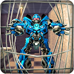 Future Robot Transform Prison War Icon