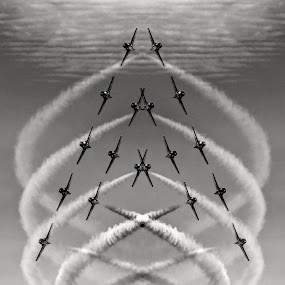 Snowbirds by Campbell McCubbin - Digital Art Things ( airplanes, snowbirds, jets, aerobatics, formation )