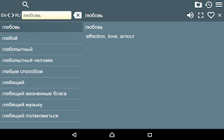 Screenshot of Russian English Dictionary