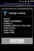 Screenshot of RFinder Worldwide Repeater Dir