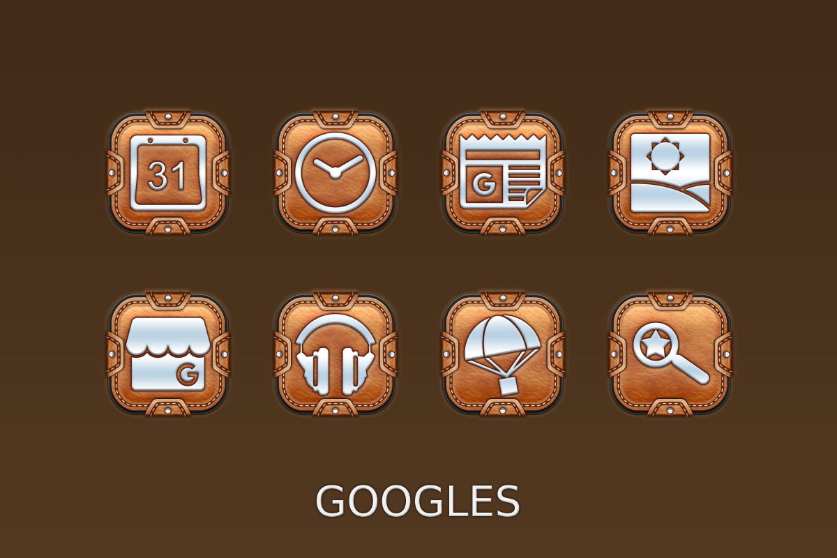 Leather Pouch-Icon Pack Screenshot 6