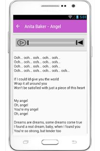 Anita Baker Lyrics Sweet Love - screenshot