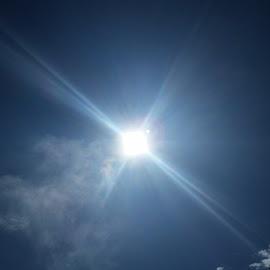 Bright & Sunny by Candace Penney - Landscapes Weather ( blue sky, sky, bright, sunshine, sun rays )