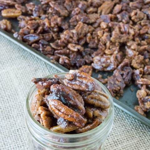 Sugar Free Sweet Candied Bourbon Pecans