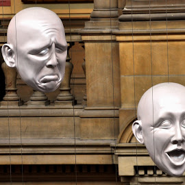 Emotions by Ashwini Attri - Artistic Objects Still Life ( art gallery, faces, emotions, artistic, stone, kelvingrove )