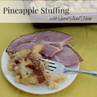 Pineapple Stuffing with Spiral Sliced Ham