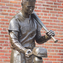 Fenway Park - BOston by Melissa Tanguay - Buildings & Architecture Statues & Monuments ( red sox, baseball, cap, boy )