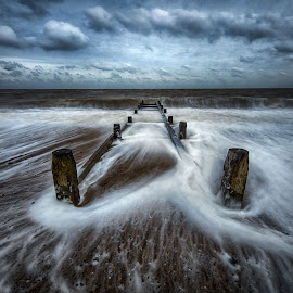Eccles Beach by Peter Hallam - Landscapes Beaches ( norfolk, sea, seascape, beach, eccles )