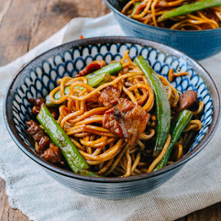 Bian Dou Men Mian (Steamed Noodles with Green Beans)