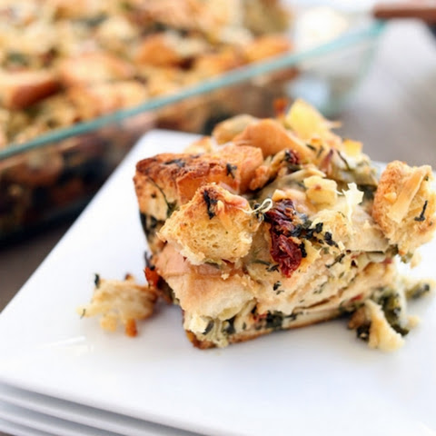 Spinach, Artichoke, Brie, and Sundried Tomato Stuffing