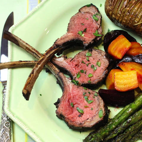 Red Wine-Garlic-Rosemary-Orange-Mint-Marinated Grilled Lamb Chops