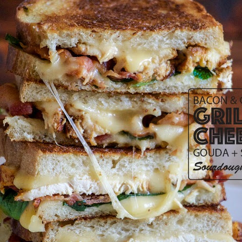 Chicken and Bacon Grilled Cheese Sandwich
