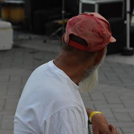 The bearded One by Thomas Shaw - People Portraits of Men ( north caolina, ball cap, white, beard, oak city 7, tee shirt, raleigh, man, oc7, hat )