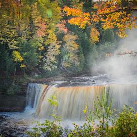 Upper Tahquamenon by Christine Weaver-Cimala - Landscapes Waterscapes ( water, tahquamenon falls, waterscape, falls, tahquamenon, paradise )