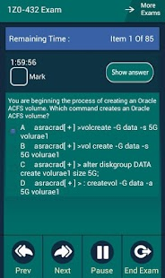 CB 1Z0-432 Oracle Exam - screenshot
