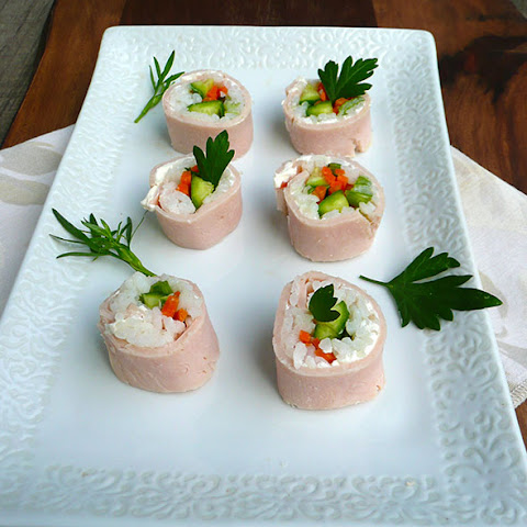 Turkey & Cream Cheese Sushi