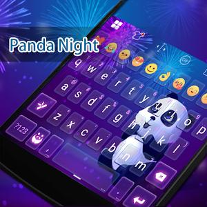 Panda In NightSky Eva Keyboard