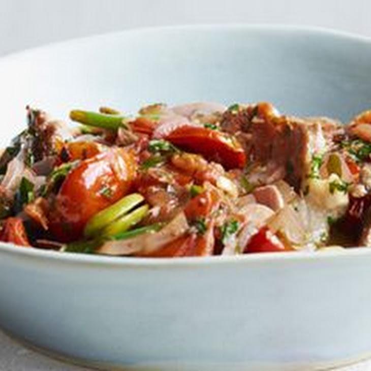 Sautéed Pork and Tomato Stew