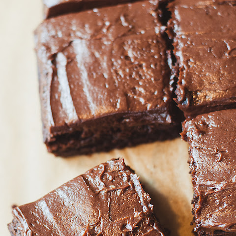 Fudgy Brownies With Chocolate Cream Cheese Frosting