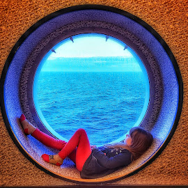 Port hole by Carole Sims - Babies & Children Children Candids ( child portrait, children, window, child )