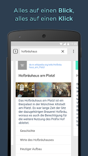 CLIQZ Browser + Suchmaschine Screenshot
