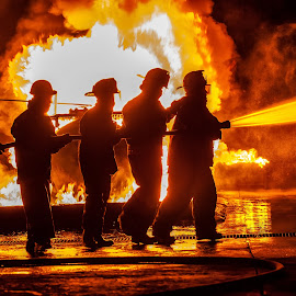 Fighting the fire by Arisha Singh - People Portraits of Men ( firefighter, firefighters, fireman, firefighting, fire, ems )