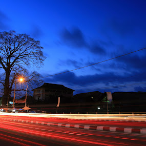 Blue Hour in Jogja by Harry Cahyono - City,  Street & Park  Street Scenes
