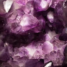 purple stones by Petrina Grimes - Nature Up Close Rock & Stone ( purple, bright, stone, colored, light )