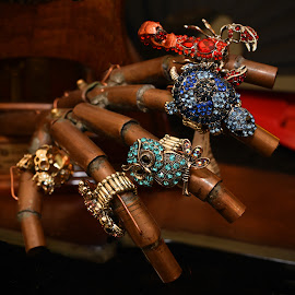 Rings On Copper Fingers by Marco Bertamé - Artistic Objects Jewelry