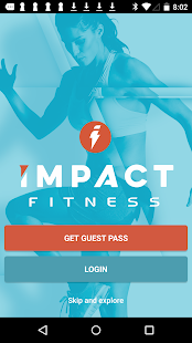Impact Fitness Fitness app screenshot for Android