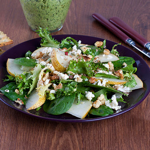 Spinach Pear Walnut Salad