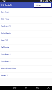 Pakistani Sports Channels HD - screenshot