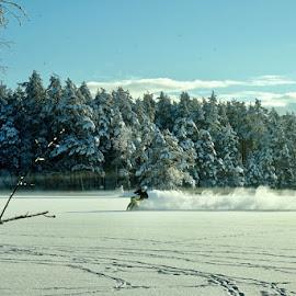 Winter joy by Alf Winnaess - Sports & Fitness Motorsports