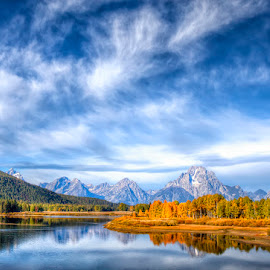 Classic Tetons by Ken Smith - Landscapes Travel ( oxbow bend, landscape, grand tetons )