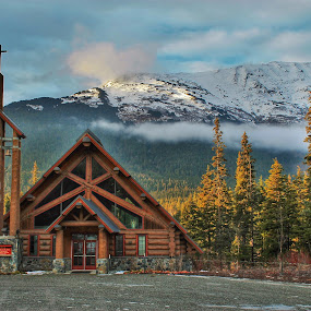 Log Cabin Church by Patricia Phillips - Buildings & Architecture Places of Worship ( churches girdwood alaska )