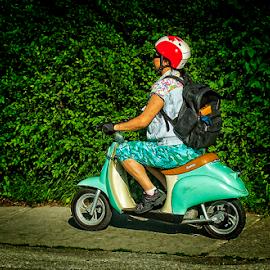 aqua cutie by Lennie Locken - Transportation Motorcycles