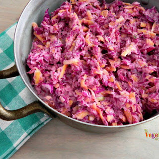 Sweet Purple Coleslaw - add a splash of color to your table