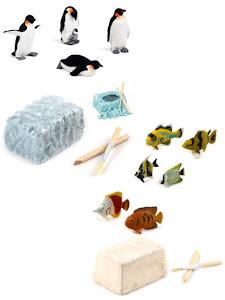"""Набор """"Юный Археолог"""" Пингвины и Рыбы"""