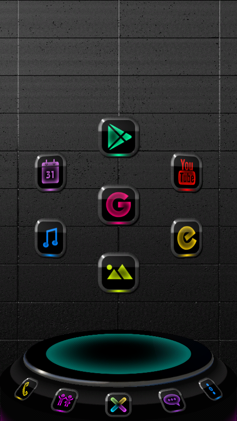 NEW NEON Next Launcher Theme Screenshot 2