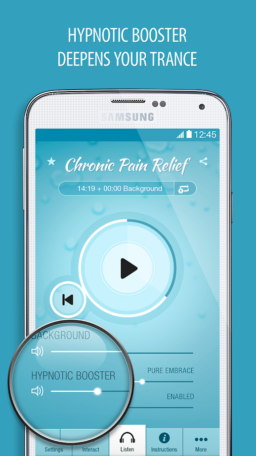 Pain Relief Hypnosis Pro Screenshot 1