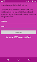 Screenshot of Love Compatibility Calculator