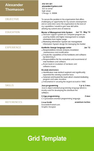 Resume Builder - screenshot