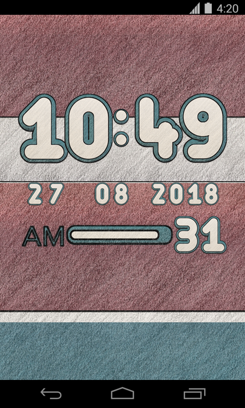 Native Digital Clock Widget Screenshot 1