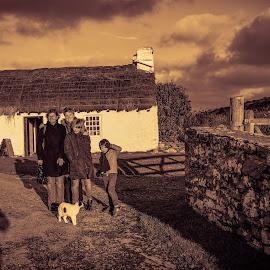 Photographers Shadow In A Rural Scene by Paul Milligan - People Street & Candids ( friends, isle of man, candid, people, rural )
