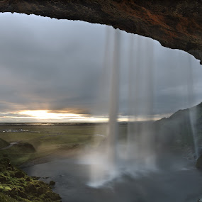 Seljalandsfoss Waterfalls 2 by Fokion Zissiadis - Landscapes Caves & Formations (  )