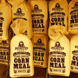 Corn Meal Bags by Dave Feldkamp - Food & Drink Cooking & Baking ( corn meal, corn meal bags, yellow bags, yellow, bags,  )