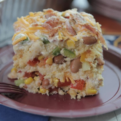 Cornbread Salad with Sour Cream Dressing