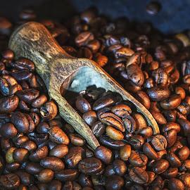 Coffee beans by Dumitru Doru - Food & Drink Ingredients ( aroma, food, beans, drink, coffee, arabian, restaurant, morning, coffee shop )